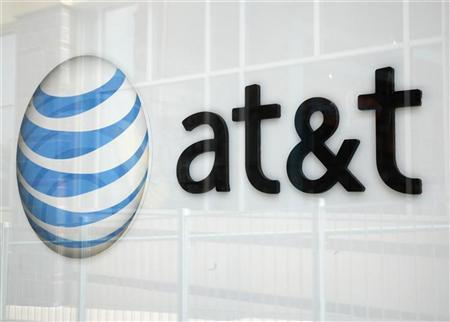 A view shows the AT&T store sign in Broomfield, Colorado April 20, 2011. REUTERS/Rick Wilking (UNITED STATES - Tags: BUSINESS)