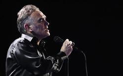 British singer-songwriter Morrissey performs during the International Song Festival in Vina del Mar city, about 121 km (75 miles) northwest of Santiago February 24, 2012. REUTERS/Eliseo Fernandez