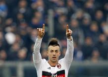 Le Milan AC s'est contenté d'un but contre l'Atalanta Bergame (1-0). Et encore une fois, le buteur est le jeune international Stephan El Shaarawy, auteur de 15 des 39 réalisations des Rossoneri en championnat cette saison. /Photo prise le 27 janvier 2013/REUTERS/Alessandro Garofalo
