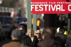 Pedestrians walk down Main street during the Sundance Film Festival in Park City, Utah, January 20, 2013. REUTERS/Lucas Jackson