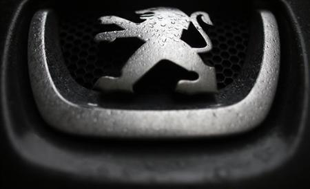 Raindrops are seen on a Peugeot car parked in Paris, January 9, 2013. REUTERS/Christian Hartmann