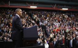 O presidente dos EUA, Barack Obama, discursa sobre reforma na imigração na Del Sol High School em Las Vegas, EUA. 29/01/2013 REUTERS/Jason Reed
