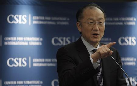 World Bank Group President Jim Yong Kim gives a keynote speech at the Center for Strategic and International Studies for a discussion on ''Anti-Corruption Efforts in Global Development: A Commitment to Act'' in Washington January 30, 2013. REUTERS/Gary Cameron
