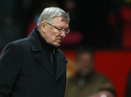 Manchester United's coach Alex Ferguson reacts after their English Premier League soccer match against Southampton at Old Trafford in Manchester, northern England, January 30, 2013. REUTERS/Darren Staples