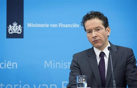 Dutch Finance Minister Jeroen Dijsselbloem speaks at a news conference in The Hague February 1, 2013. Dijsselbloem said on Friday that banking and insurance group SNS Reaal would be nationalised at a cost of 3.7 billion euros ($5.02 billion) to the state. REUTERS/Bart Maat