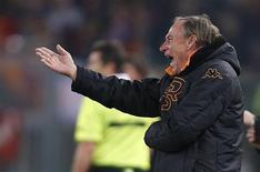 L'AS Rome a limogé samedi son entraîneur Zdenek Zeman, au lendemain de la défaite à domicile face à Cagliari (2-4) en Serie A. /Photo prise le 1er février 2013/REUTERS/Tony Gentile