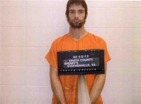 Eddie Ray Routh is pictured in this booking photo provided by the Erath County Sheriff's Office. REUTERS/Erath County Sheriff's Office/Handout