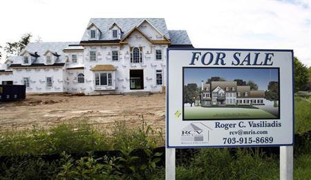 A home under construction is for sale in Great Falls, Virginia August 23, 2010. REUTERS/Kevin Lamarque