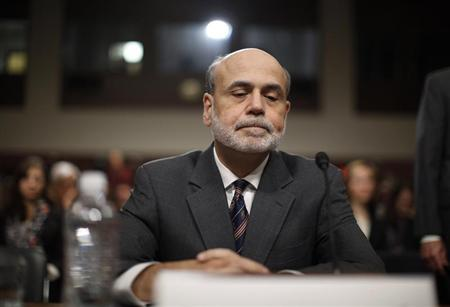 U.S. Federal Reserve Chairman Ben Bernanke is pictured before testifying at a Joint Economic Committee hearing on the economic outlook, on Capitol Hill in Washington October 4, 2011. REUTERS/Jason Reed