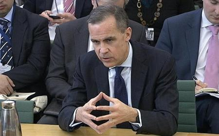 A video grab image shows Mark Carney, the next governor of the Bank of England, answering questions from a parliamentary committee in the Houses of Parliament in central London February 7, 2013. Carney said on Thursday he would move carefully with any changes to the way the central bank runs monetary policy but suggested he might favour committing to stimulus for an economy over a period of time. REUTERS/UK Parliament (BRITAIN - Tags: BUSINESS POLITICS TPX IMAGES OF THE DAY) NO COMMERCIAL OR BOOK SALES. FOR EDITORIAL USE ONLY. NOT FOR SALE FOR MARKETING OR ADVERTISING CAMPAIGNS. NO THIRD PARTY SALES. NOT FOR USE BY REUTERS THIRD PARTY DISTRIBUTORS
