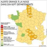 ALERTE ORANGE À LA NEIGE DANS DIX-SEPT DÉPARTEMENTS