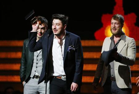 Mumford & Sons wins Album of the Year at 2013 Grammy Awards