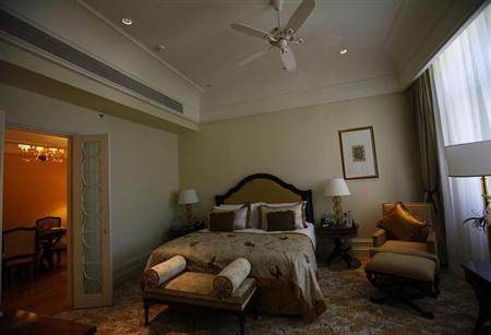An inside view of the 'Exclusive suite' of the heritage wing of the Taj Palace Hotel in Mumbai August 11, 2010. REUTERS/Danish Siddiqui/Files