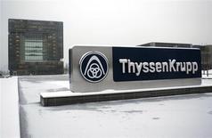 Штаб-квартира ThyssenKrupp AG в Эссене 16 января 2013 года. Крупнейшая сталелитейная компания Германии ThyssenKrupp снизила квартальную прибыль на 38 процентов и не ожидает экономического восстановления в этом году. REUTERS/Ina Fassbender