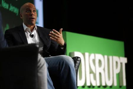 Newark, New Jersey Mayor Cory Booker speaks during day one of TechCrunch Disrupt SF 2012 event at the San Francisco Design Center Concourse in San Francisco, California September 10, 2012. REUTERS/Stephen Lam