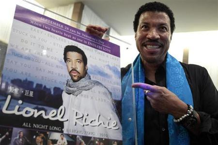 Singer Lionel Richie poses during a promotional event for his upcoming ''All Night Long in Hong Kong'' concert in Hong Kong September 27, 2010. REUTERS/Tyrone Siu/Files