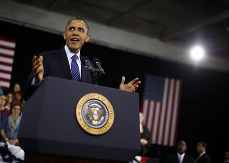 U.S. President Barack Obama delivers remarks on education for young children in Decatur, Georgia, February 14, 2013. REUTERS/Jason Reed