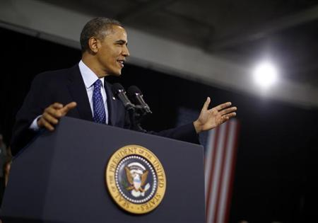 U.S. President Barack Obama delivers remarks on education for young children in Decatur, Georgia, February 14, 2013. REUTERS/Jason Reed/Files