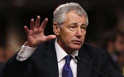Malgré le soutien de Barack Obama, la nomination de Chuck Hagel au poste de secrétaire à la Défense a subi un nouveau contretemps jeudi au Sénat, où une motion visant à accélérer le calendrier de sa confirmation a été rejetée. /Photo prise le 31 janvier 2013/REUTERS/Kevin Lamarque