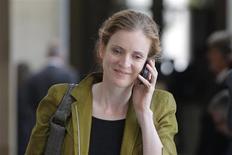 Nathalie Kosciusko-Morizet a annoncé jeudi sa candidature à la mairie de Paris dans le cadre de la primaire UMP pour les élections municipales de mars 2004. /Photo d'archives/REUTERS/Gonzalo Fuentes