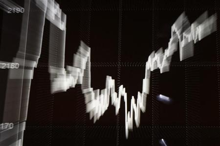 The WIG20 index graph is seen on screen at the Warsaw Stock Exchange September 28, 2011. REUTERS/Kacper Pempel/Files
