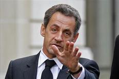 Seulement 35% des Français souhaitent le retour de Nicolas Sarkozy sur la scène politique tandis que 62% n'en ont pas envie, selon un sondage BVA pour i>Télé diffusé vendredi. /Photo prise le 26 novembre 2012/REUTERS/Benoît Tessier