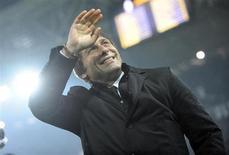 L'entraîneur de la Juventus Turin, Antonio Conte, a été couronné meilleur entraîneur d'Italie sur la saison 2011-2012 par ses pairs, en permettant au club bianconero de remporter la Serie A sans perdre le moindre match. /Photo prise le 19 janvier 2013/REUTERS/Giorgio Perottino