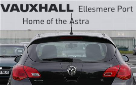 Vauxhall vehicles stand in the car park outside the Vauxhall Motors plant in Ellesmere Port, northern England May 17, 2012. REUTERS/Phil Noble