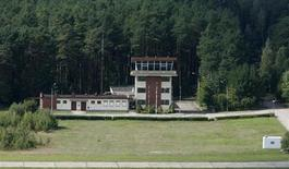 An aerial view shows a watch tower of an airport in Szymany, close to Szczytno in northeastern Poland, September 9, 2008. The European Union, human watchdogs, domestic and foreign media identified the airport as a potential site which the CIA used to transfer al Qaeda suspects to a nearby prison. REUTERS/Kacper Pempel