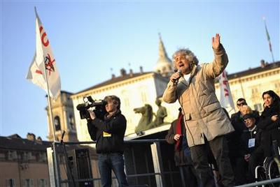 Grillo's crowd says Basta! to old Italy politics