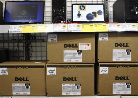 Dell computers are displayed at Best Buy in Phoenix, Arizona, February 18, 2010. REUTERS/Joshua Lott/Files