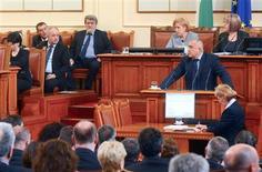 Bulgarian Prime Minister Boiko Borisov speaks in the Parliament in Sofia February 20, 2013. REUTERS/Julia Lazarova