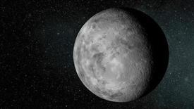 Astrónomos han hallado un mini planeta más allá de nuestro sistema solar que es el más pequeño de 800 encontrados, dijeron científicos. Ilustración artística del pequeño planeta Kepler-37b, en una imagen difundida por la NASA, el 20 de febrero de 2013. REUTERS/NASA/Ames/JPL-Caltech/Handout