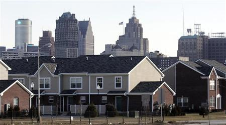 A newly built housing project is seen near downtown Detroit, Michigan, January 4, 2012. REUTERS/Rebecca Cook