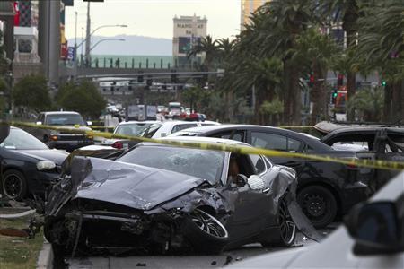 Three die in shootout, fiery crash on Las Vegas strip | Reuters com