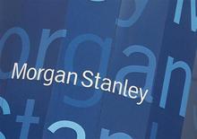 Логотип Morgan Stanley на здании офиса компании в Нью-Йорке, 9 января 2013 года. Фонд Morgan Stanley Real Estate Investing объявил о завершении крупнейшей покупки недвижимости в России - торгово-развлекательного центра Метрополис у девелопера Capital Partners. Сумма сделки, по данным источников Рейтер, составила $1,2 миллиарда. REUTERS/Shannon Stapleton