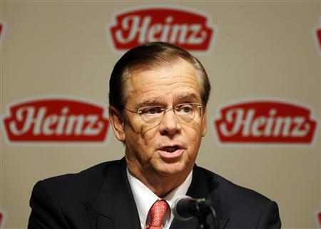 Heinz Company Chairman, President and CEO William R. Johnson discusses an agreement for Heinz to be bought by Berkshire Hathaway and 3G Capital during a news conference in Pittsburgh Pennsylvania February 14, 2013. REUTERS/Jason Cohn