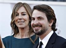 """Director Kathryn Bigelow and screenwriter Mark Boal of """"Zero Dark Thirty"""", which is nominated for Best Picture Oscar, arrive at the 85th Academy Awards in Hollywood, California February 24, 2013. Both Bigelow and Boal are also producers for the film. REUTERS/Lucas Jackson"""