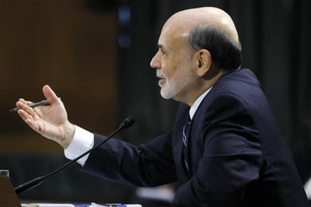 Federal Reserve Board Chairman Ben Bernanke testifies before a Senate Banking, Housing and Urban Affairs Committee hearing on ''The Semiannual Monetary Policy Report to the Congress.'' in Washington February 26, 2013. REUTERS/Gary Cameron