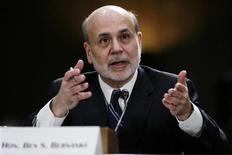O chairman do Federal Reserve, banco central norte-americano, Ben Bernanke, testemunha perante o Senado em Washington, EUA. 26/02/2013 REUTERS/Gary Cameron