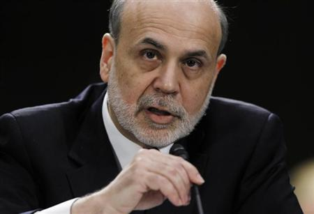 Federal Reserve Board Chairman Ben Bernanke testifies before a Senate Banking, Housing and Urban Affairs Committee hearing on ''The Semiannual Monetary Policy Report to the Congress.'' in Washington February 26, 2013. REUTERS/Jason Reed