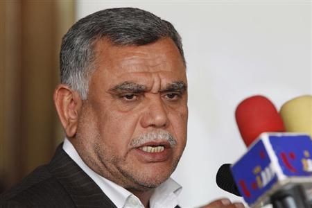 Iraq's Transport Minister Hadi al-Amiri speaks at a news conference in Baghdad January 12, 2011. REUTERS/Saad Shalash