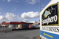 La société Spanghero, soupçonnée dans le scandale de la viande de cheval étiquetée comme du boeuf, a sollicité l'ouverture d'une procédure de sauvegarde auprès du tribunal de commerce de Carcassonne. /Photo prise le 15 février 2013/REUTERS/Jean-Philippe Arles