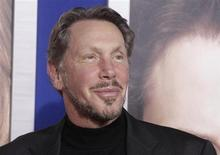 """Larry Ellison, co-founder and CEO of Oracle Corporation, arrives at the premiere of """"The Guilt Trip"""" starring Barbra Streisand and Seth Rogen in Los Angeles in this file photo taken December 11, 2012. REUTERS/Fred Prouser"""