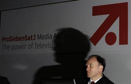 Thomas Ebeling, new CEO of Germany's biggest commercial broadcaster ProSiebenSat.1 addresses the annual news conference in Unterfoehring, north of Munich March 4, 2009. REUTERS/Michaela Rehle