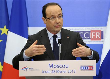 France's Hollande says wants Syria talks widened