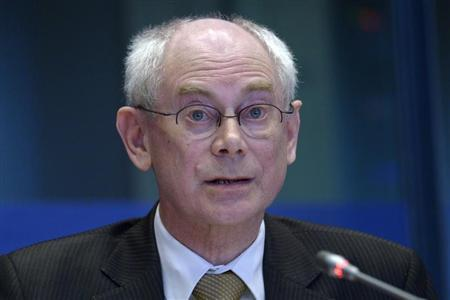European Council President Herman Van Rompuy attends a debate on the EU's long-term budget at the EU parliament in Brussels February 18, 2013. REUTERS/Eric Vidal