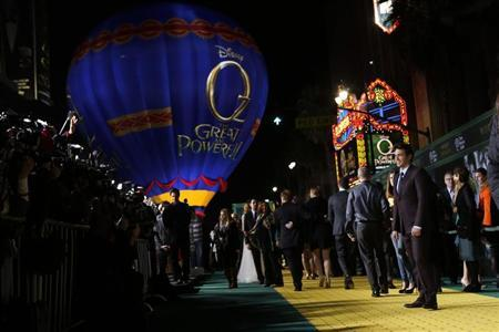 Actor James Franco arrives at the premiere of the Disney movie ''Oz the Great and Powerful'' at the El Capitan Theatre in Hollywood, California February 13, 2013. REUTERS/Patrick Fallon