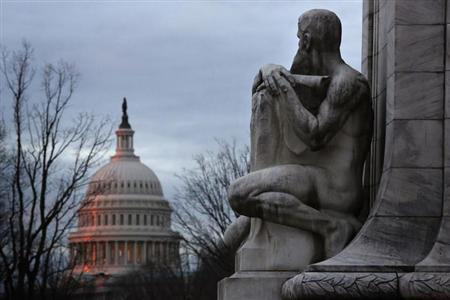 The U.S. Capitol building is seen at sunrise in Washington March 1, 2013. REUTERS/Jonathan Ernst