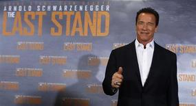 "Actor Arnold Schwarzenegger attends a photo call of the film ""The Last Stand"" in Cologne January 21, 2013. REUTERS/Ina Fassbender"